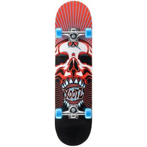 Xootz Skull Double Kick Tail Skateboard - Multi