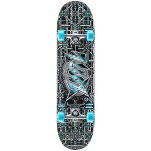 Xootz Industrial Double Kick Tail Skateboard - Multi