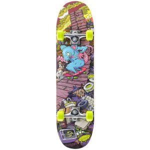 Xootz Rat Ramp Double Kick Tail Skateboard - Multi