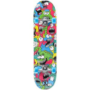 Xootz Chomper Double Kick Tail Skateboard - Multi