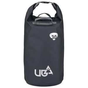 Urban Beach 30 Litre Waterproof Barrel Dry Bag with Rucksack Straps - Black