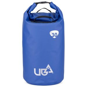 Urban Beach 30 Litre Waterproof Barrel Dry Bag with Rucksack Straps - Blue