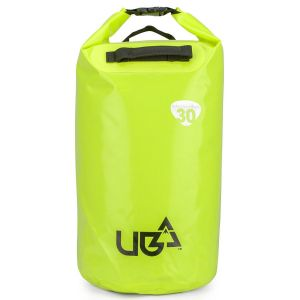 Urban Beach 30 Litre Waterproof Barrel Dry Bag with Rucksack Straps - Yellow