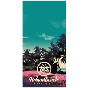Urban Beach Tropical Island 100% Cotton Beach Towel, 152 x 76 cm - Multi