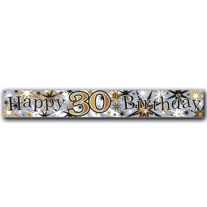 Simon Elvin Happy 30th Birthday Large Foil Party Banner - Male