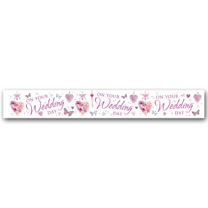 Simon Elvin On Your Wedding Day Large Foil Party Banner