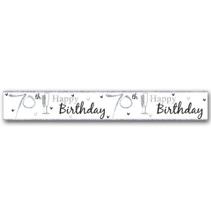 Simon Elvin Happy 70th Birthday Large Foil Party Banner - Unisex