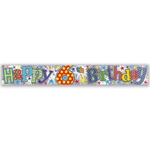 Simon Elvin Happy 6th Birthday Large Foil Party Banner - Boys