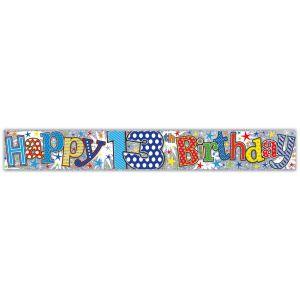 Simon Elvin Happy 13th Birthday Large Foil Party Banner - Boys