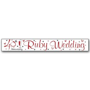 Simon Elvin Ruby Wedding 40th Anniversary Large Foil Party Banner