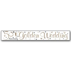Simon Elvin Gold Wedding 50th Anniversary Large Foil Party Banner