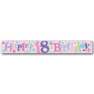Simon Elvin Happy 18th Birthday Large Foil Party Banner - Female