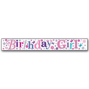 Simon Elvin Birthday Girl Happy Birthday Large Foil Party Banner - Girls