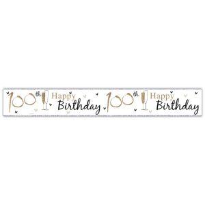Simon Elvin Happy 100th Birthday Large Foil Party Banner - Unisex