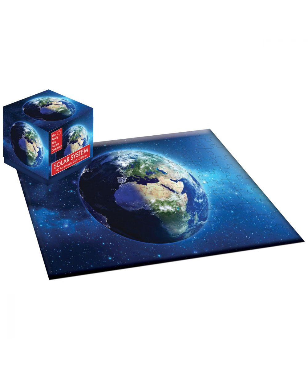 Robert Frederick 100 Piece Jigsaw Puzzle Cube Dinosaurs Map or Landmarks Space