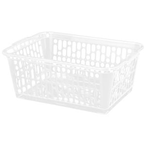 Wham Large Plastic Handy Storage Basket, Clear