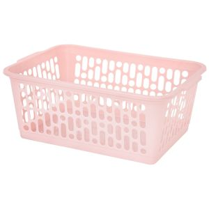 Wham Large Plastic Handy Storage Basket, Pink
