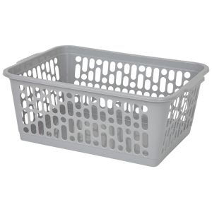 Wham Large Plastic Handy Storage Basket, Grey