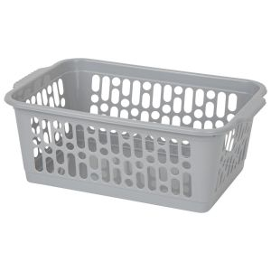 Wham Medium Plastic Handy Storage Basket, Grey