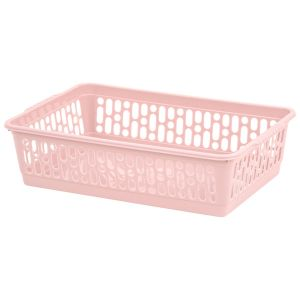 Wham Small Plastic Handy Storage Basket, Pink