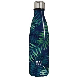 Robert Frederick Mai Tropical Leaves Stainless Steel Hydration Bottle, Multi - 500ml