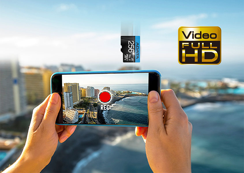 Class 10 and V10 - Supports Full HD video recording
